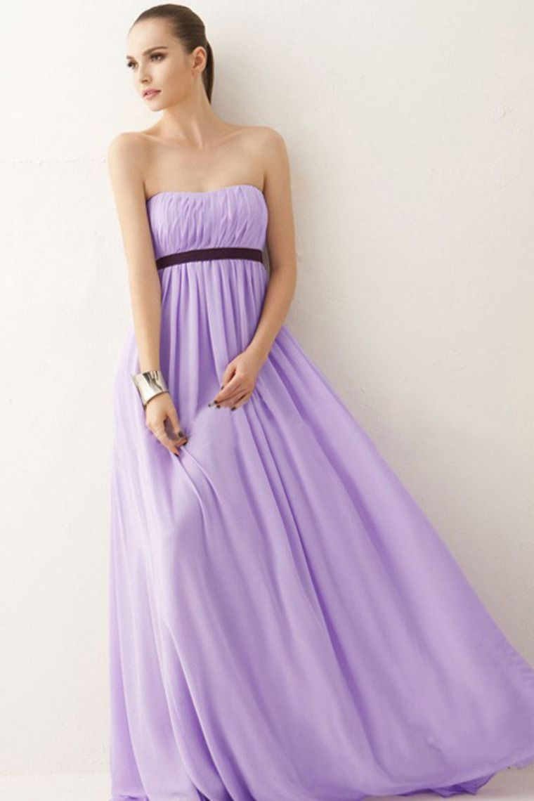 Perfect Floor Length Empire Waist Princess Bridesmaid Dresses With ...
