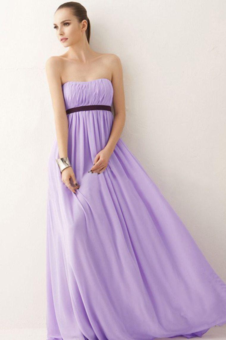 Perfect Floor Length Empire Waist Princess Bridesmaid Dresses With ...