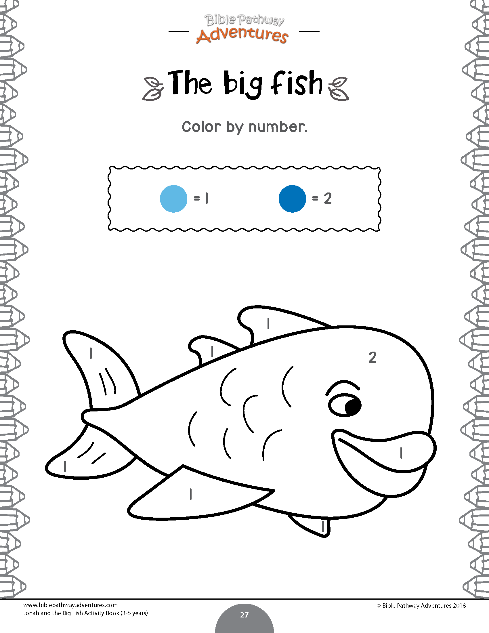 Jonah And The Fish Coloring Worksheet For Kids