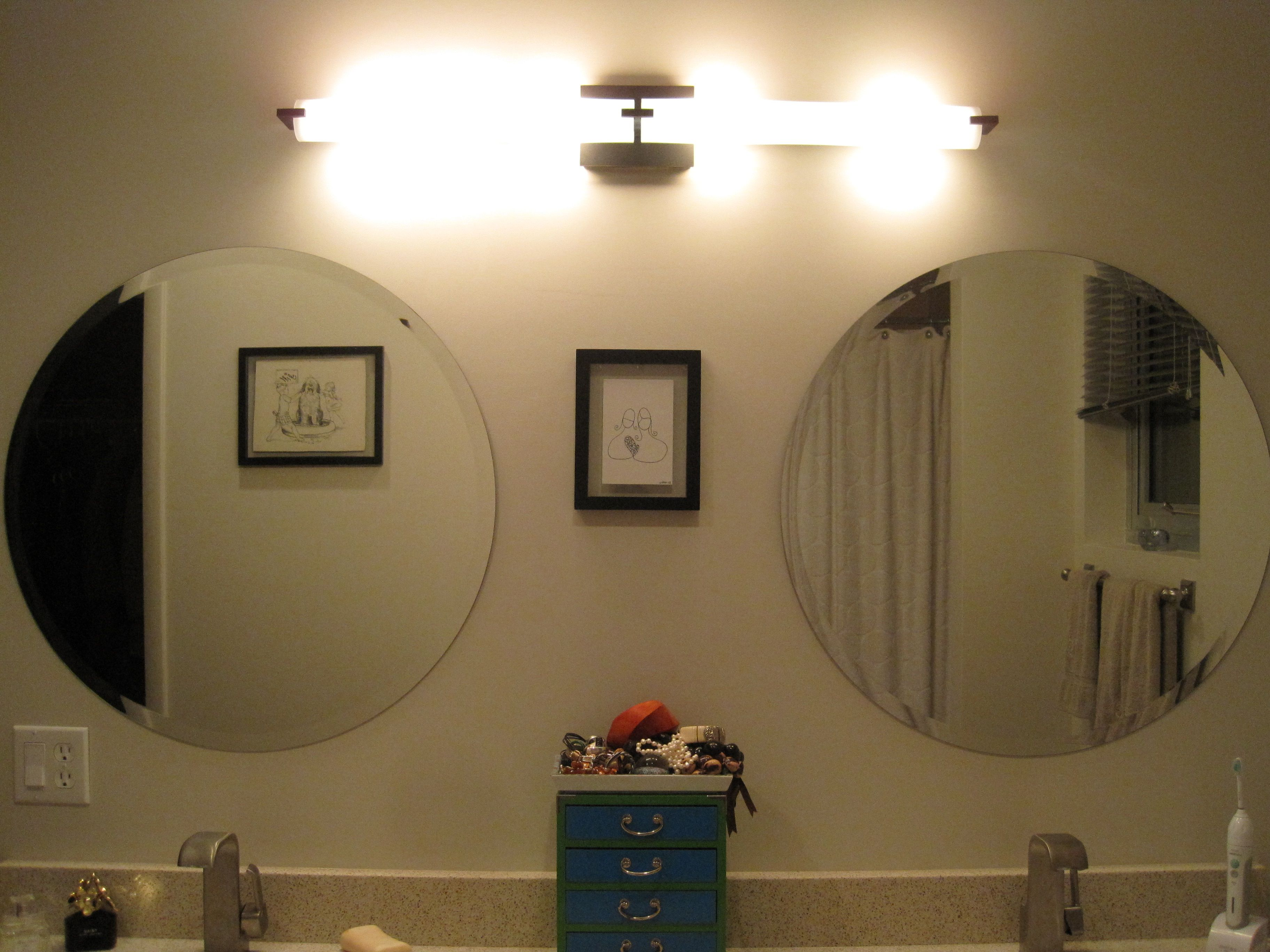 Bathroom Sophisticated Vanity Lighting Inspirations Lightings With Led Light Fixture Wall Lamps Also