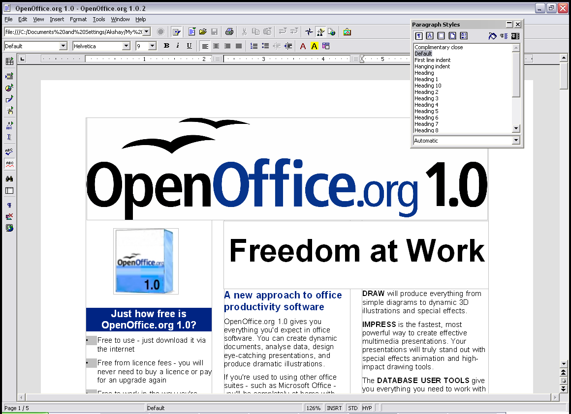 Open Office An Open Source Version Of Microsoft Office Online Mortgage Free Office Software Word Alternative