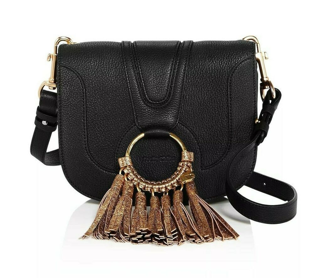 cb608cabc See by Chloé Hana Medium Leather Shoulder Bag Black $480 NWT Authentic Chloe