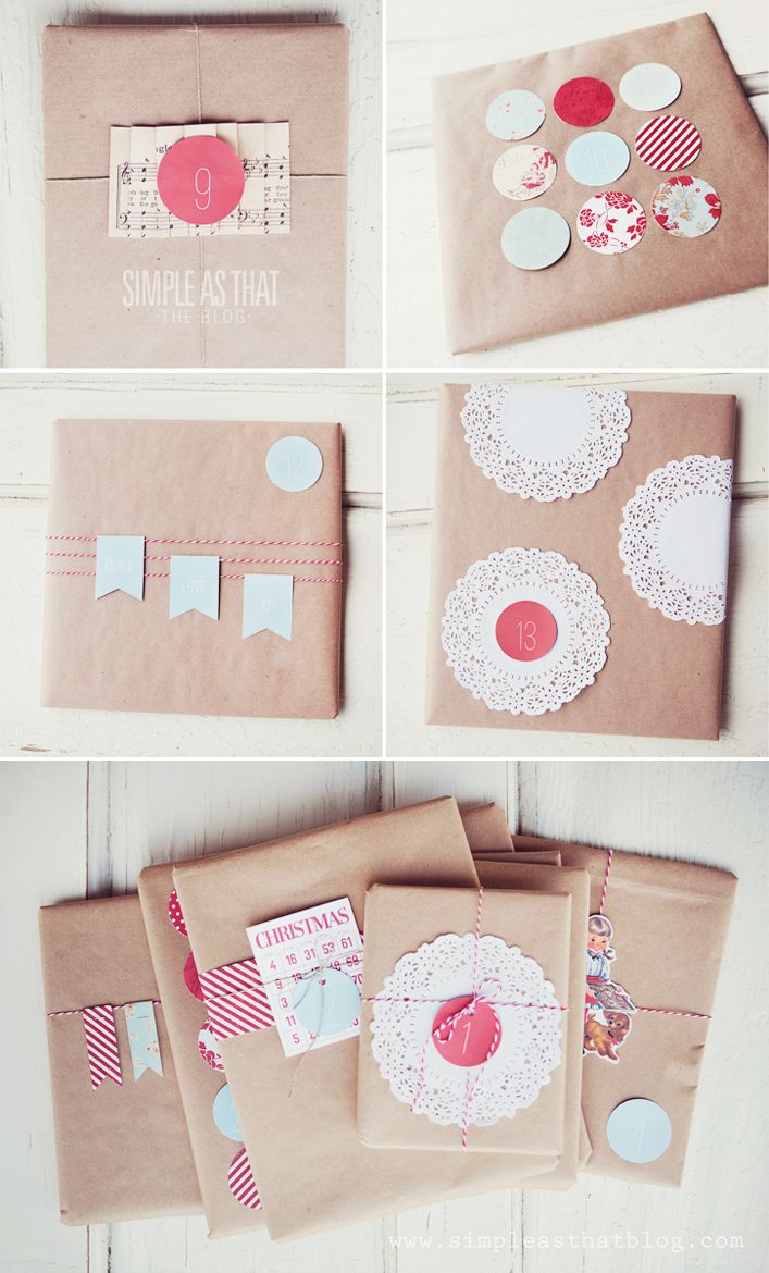 Simple and inexpensive gift wrapping ideas.