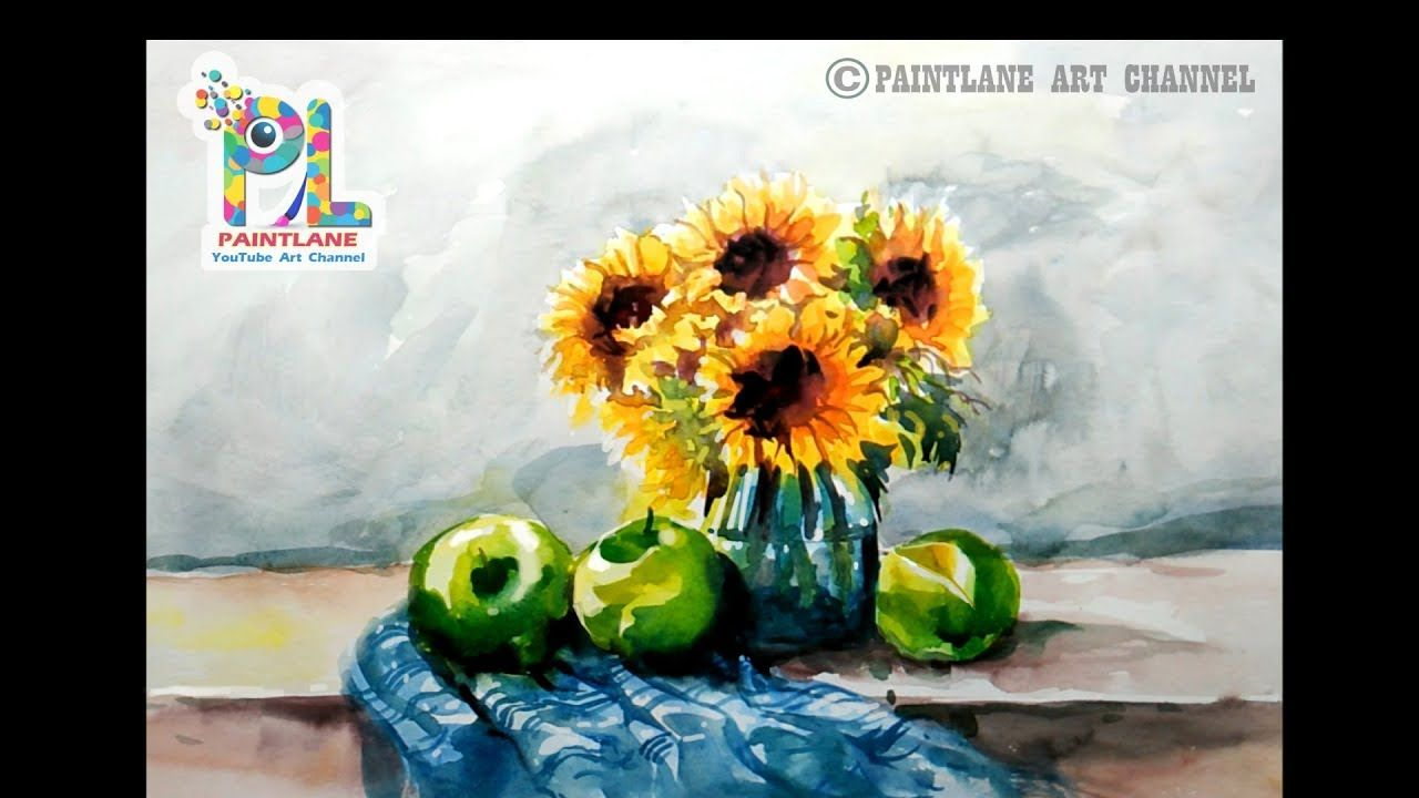 Learn Still Life Painting With Water Color Step By Step Painting