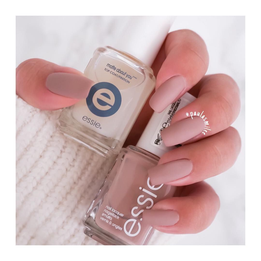 Trying out a new matte top coat from Essie. This is the result and ...