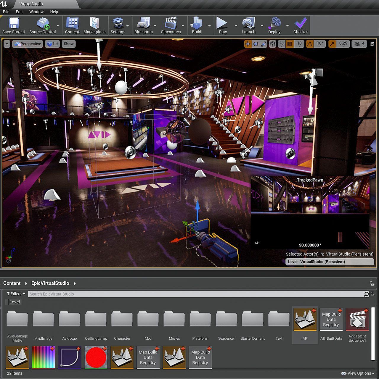 Avid Maestro Virtual Set powered by Unreal Engine