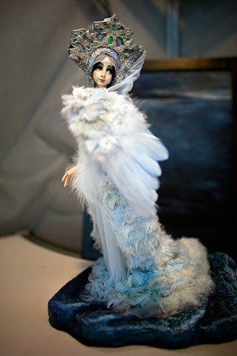 Царевна-лебедь (М.Врубель) | Художественные куклы, Царевна ...