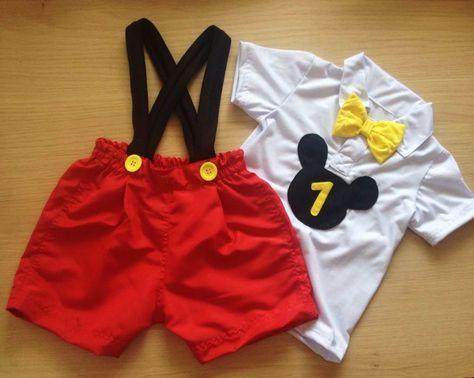 a48704647df2c7 fantasia Mickey baby | idéias | Aniversario mickey menino, Festa ...