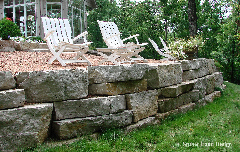Natural Stone Outcropping Retaining Wall Landscape Walls Rock Garden Backyard Paradise