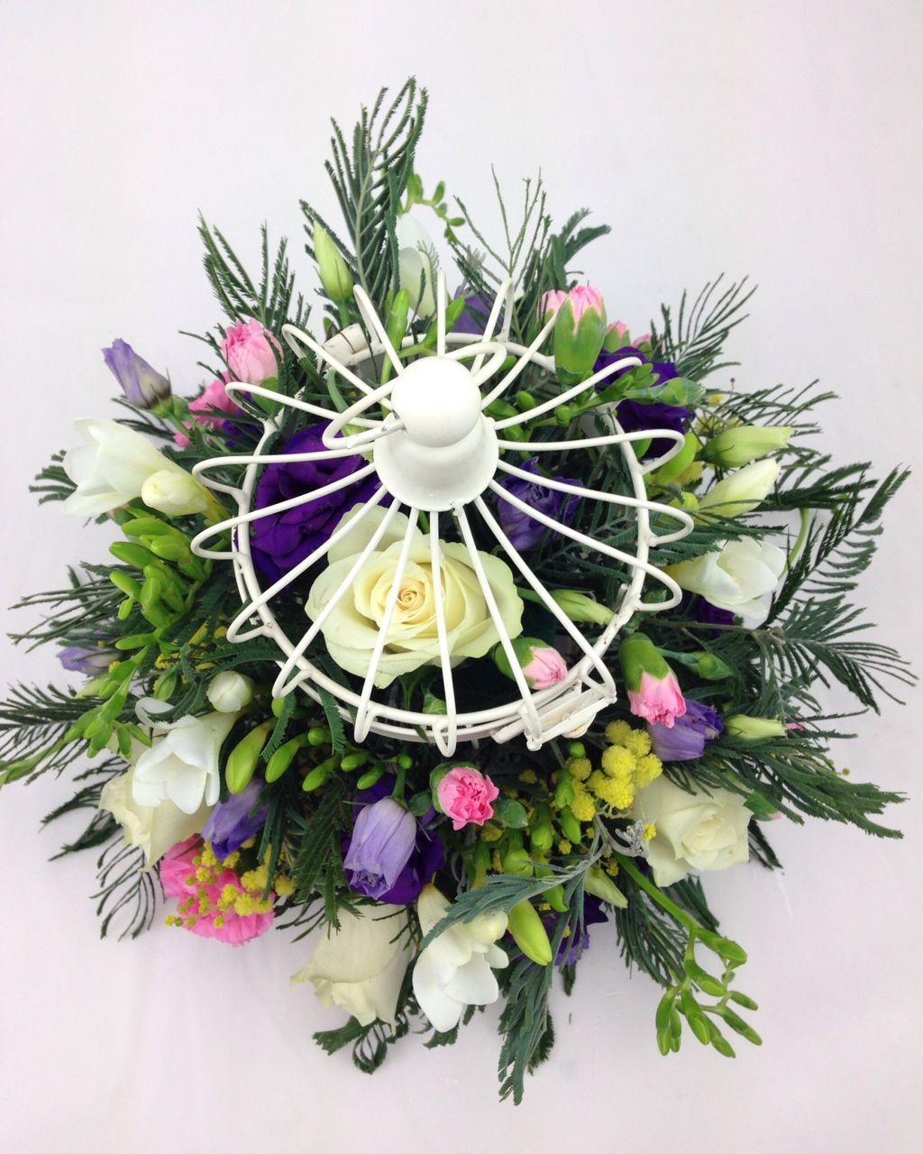 Wedding centrepiece arrangement, wedding reception floral