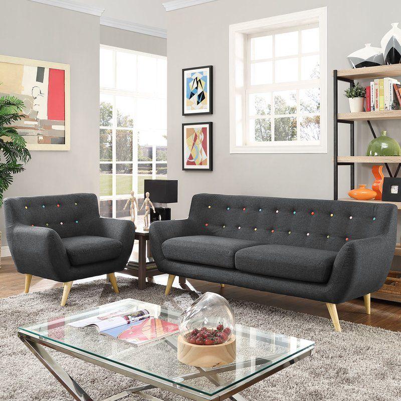 Meggie 2 Piece Living Room Set Living Room Sets Modern Sofa Living Room Living Room Sets Furniture