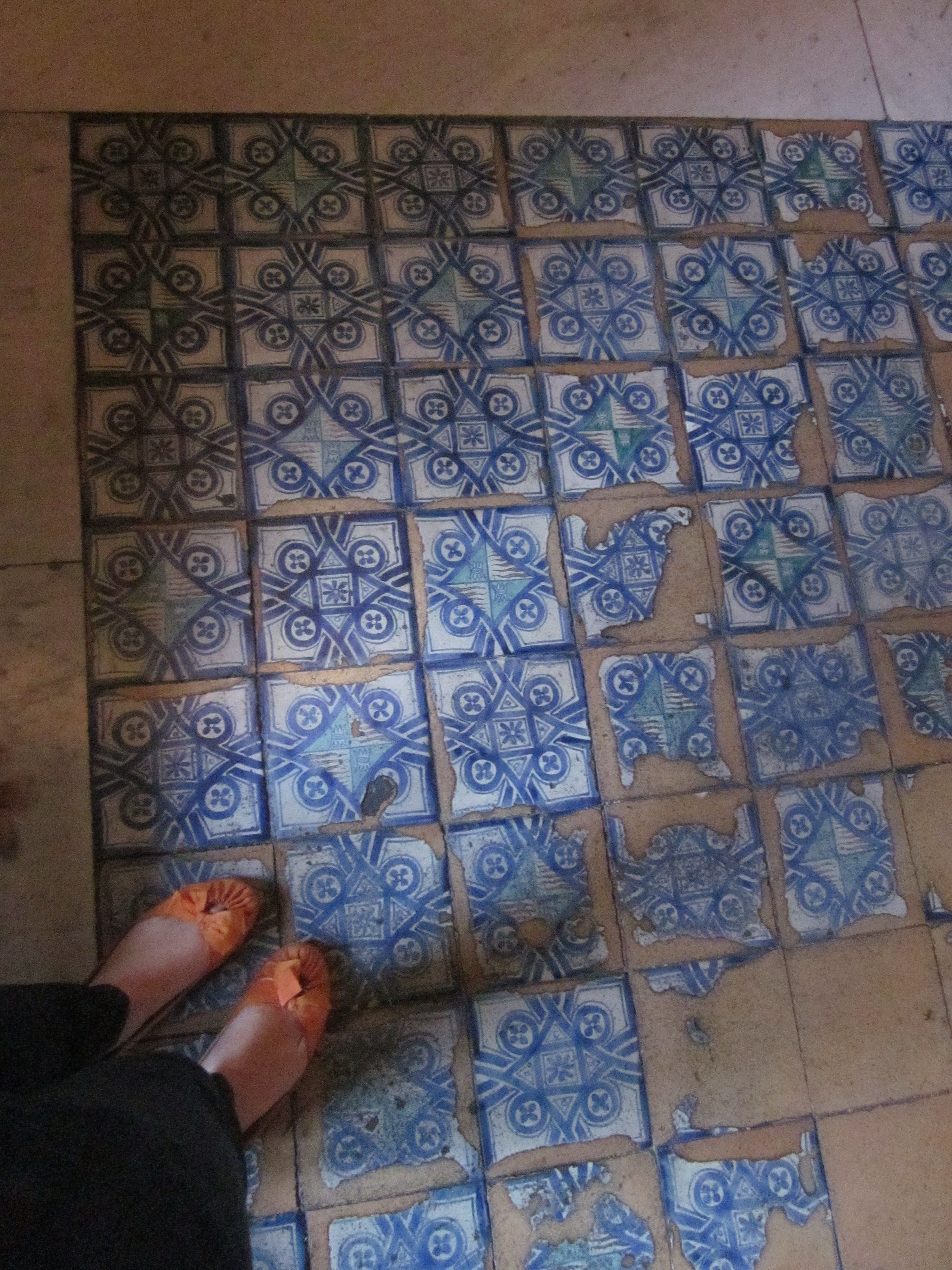 tiled floor inside the Vatican museums. | Old - Very Old Tiles ...