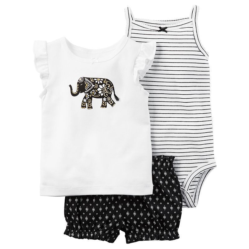 8c758cddb504 Baby Girl Carter s Striped Bodysuit