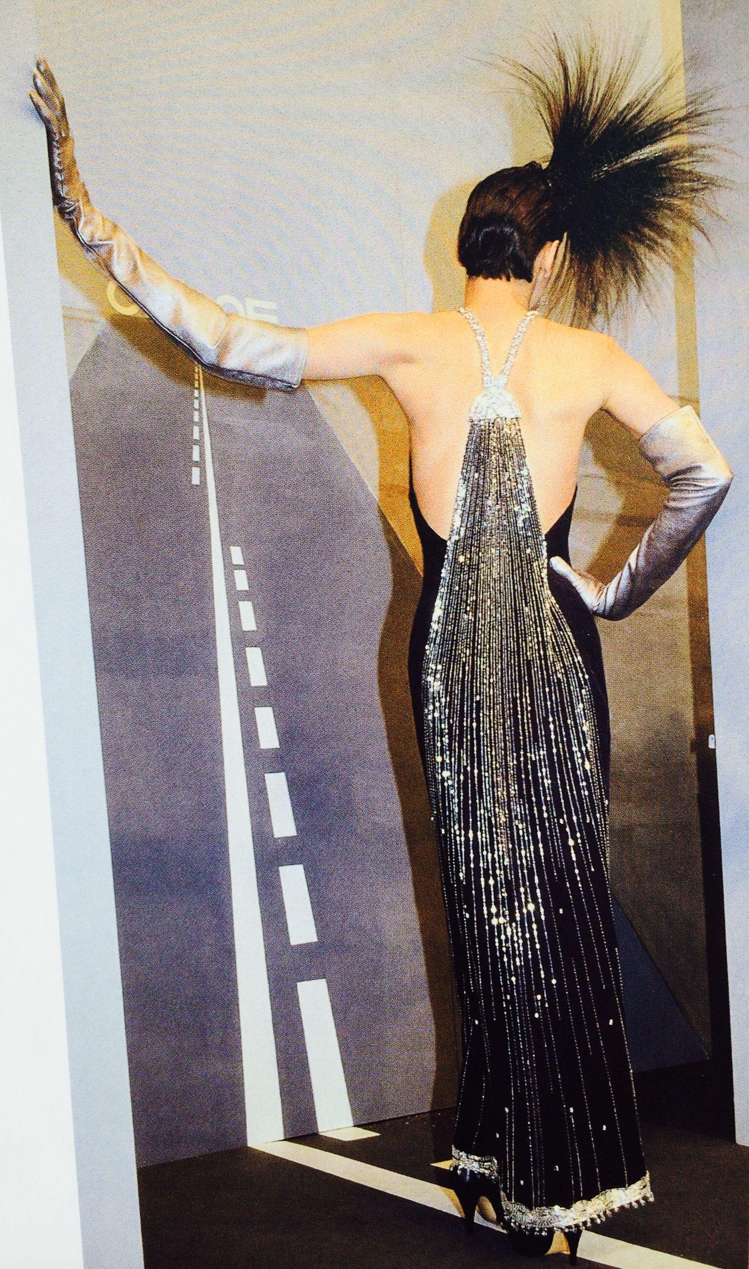 Karl Lagerfeld For Chloe Shower Dress And Silver Gloves
