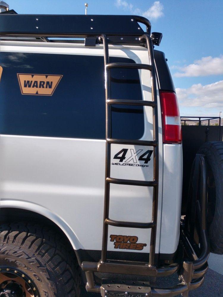 Chevrolet Express Van With Aluminum Ladder Gmc Vans Chevrolet