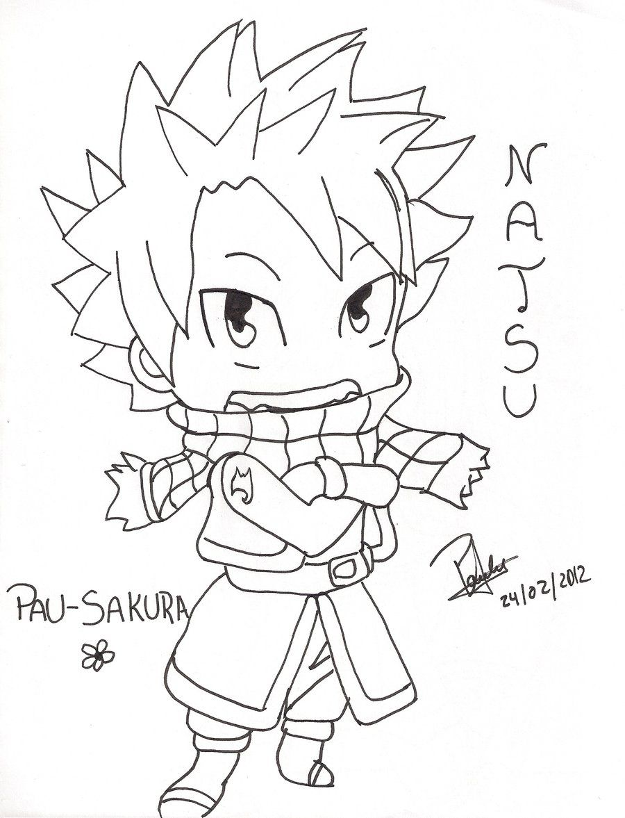 chibi fairy tail coloring pages - photo#23