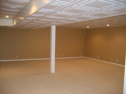 Stratford Ceiling Tiles Basement Project Dropped