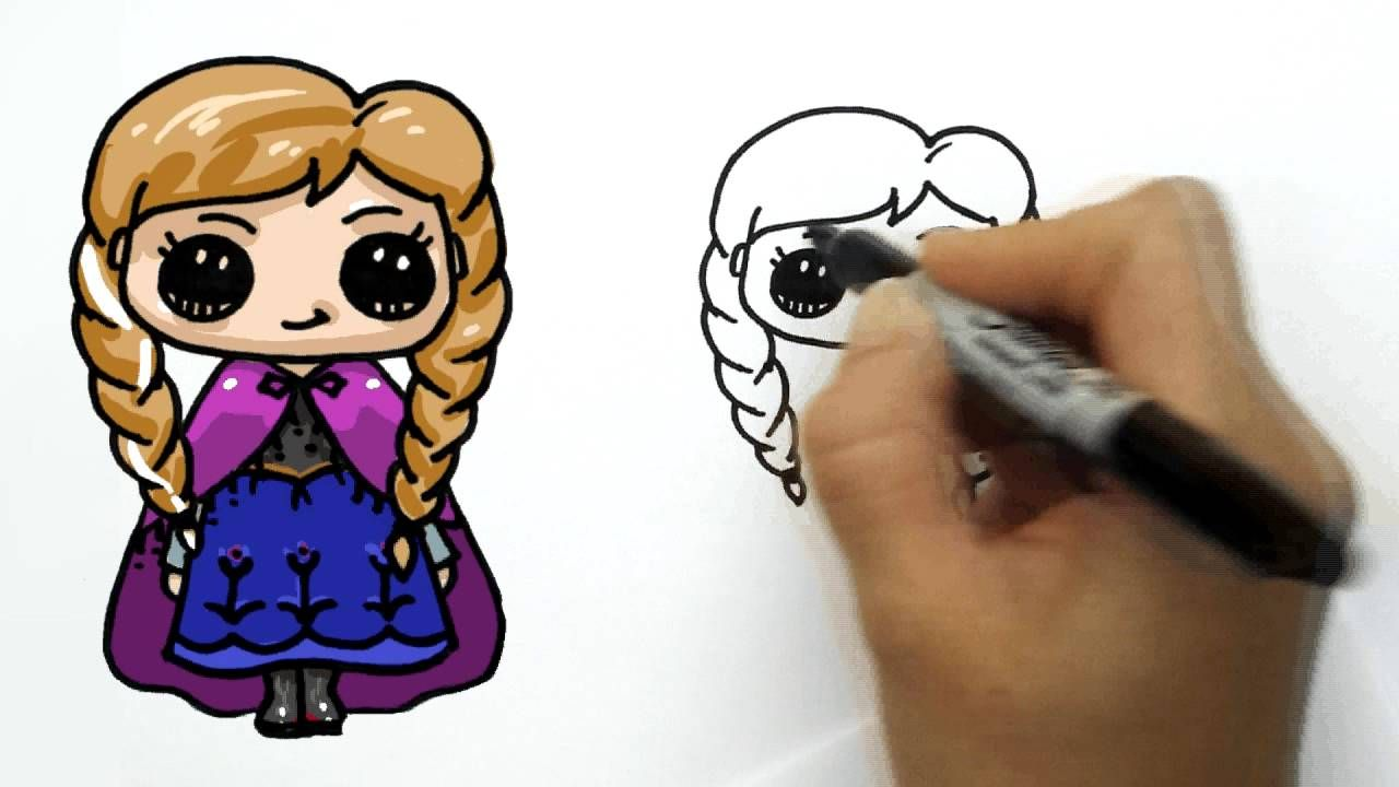 How To Draw Anna From Frozen Cute And Simple With Images