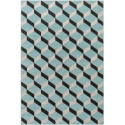 Photo of benuta Plus indoor & outdoor carpet Rasco gray / turquoise 160×230 cm – for balcony, terrace & garden benuta