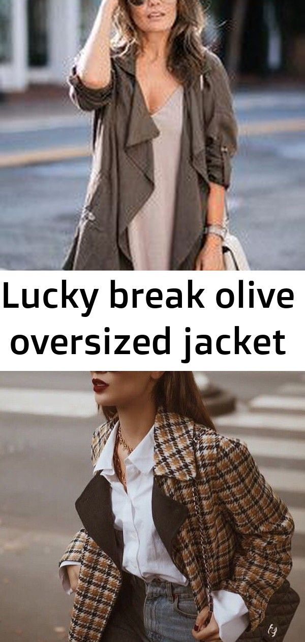 Lucky break olive oversized jacket They say luck be a lady and she must be a fashionable one with numbers like the Lucky Break Olive Oversized Jacket Mediumweight woven f...