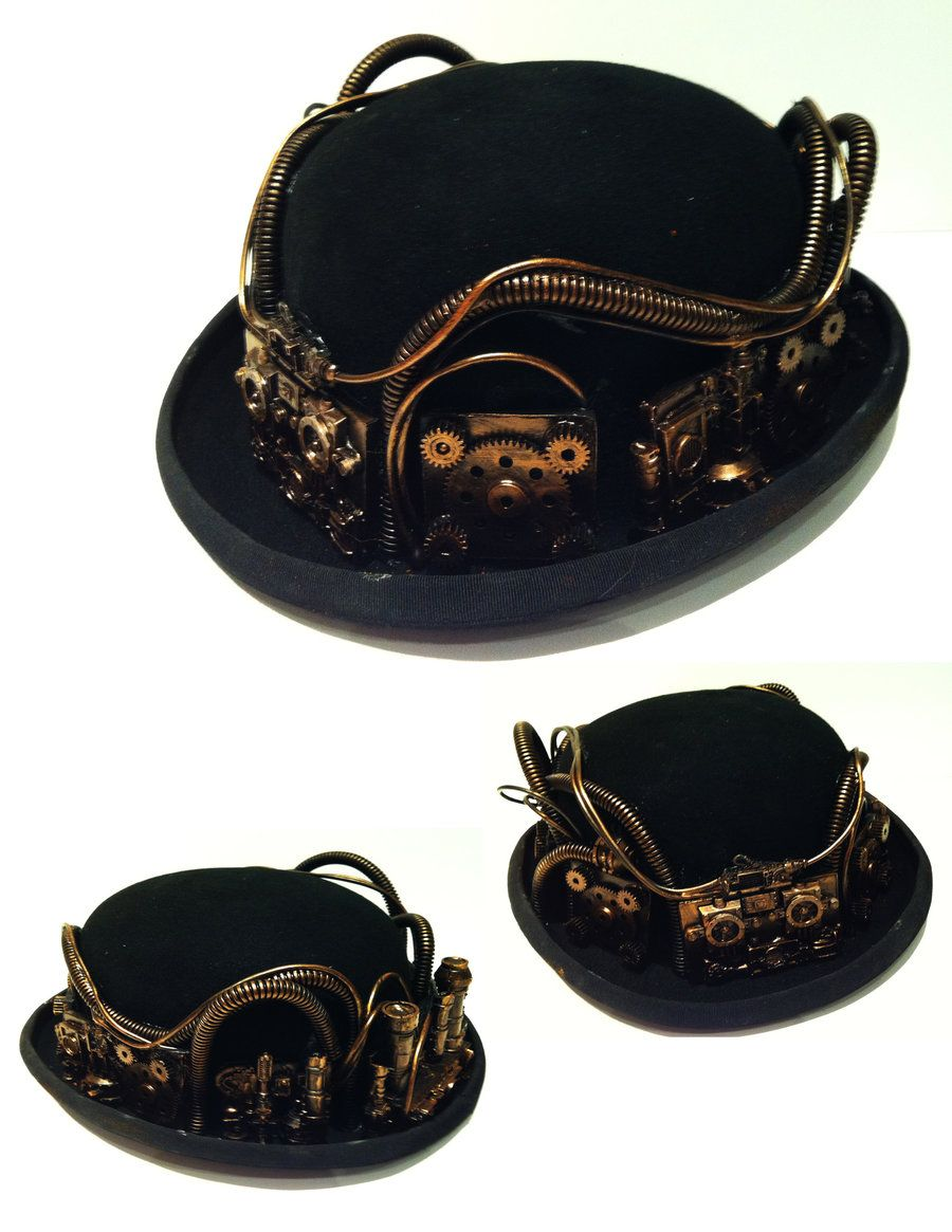 steampunk bowler hat 2 by richardsymonsart.deviantart.com on  DeviantArt 0ce63aa697f