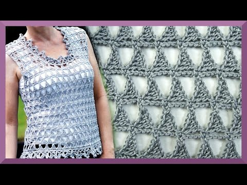 Dreieckmuster Hakeln Anleitung Einfach I Kanal Hakeln Stricken Youtube Dreieckmuster Lochmuster Stricken Hakeln Anleitung