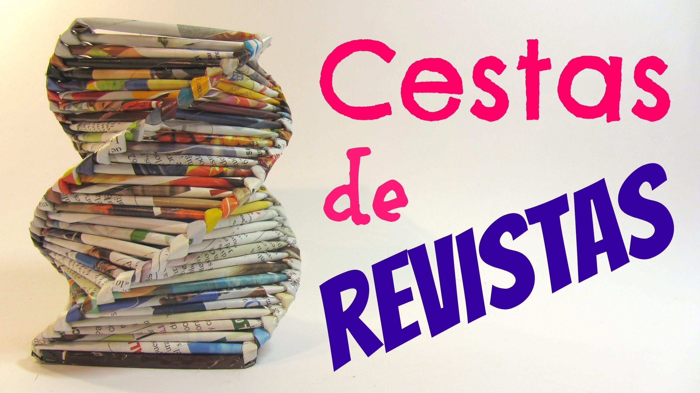 Tutorial cestas de revistas baskets made with magazines - Cesta de papel de periodico ...