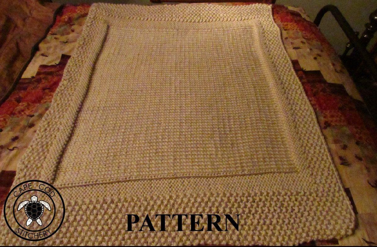 Knit Baby Blanket Pattern, Knitting Pattern, Chunky Yarn, Knit Purl ...