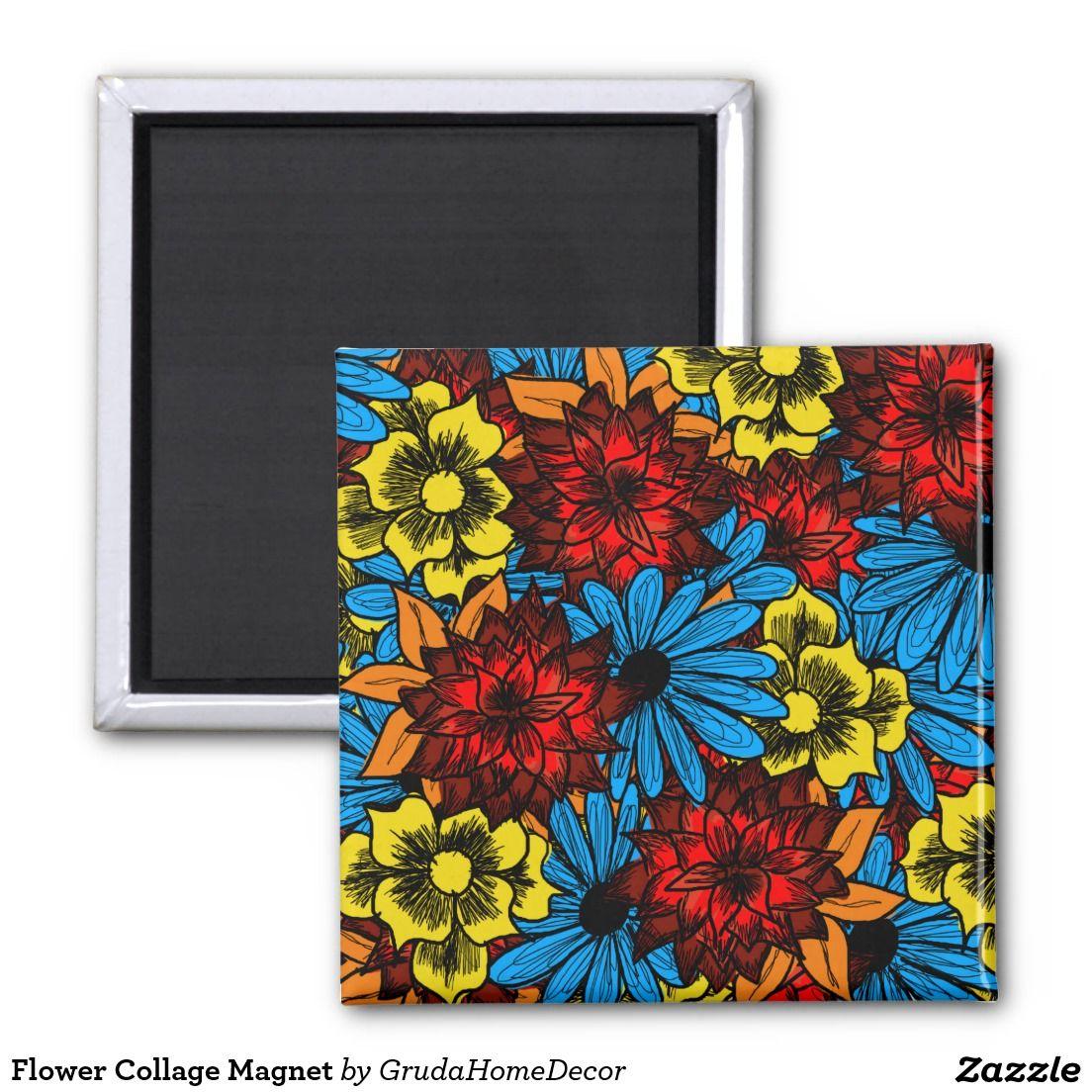Flower Collage Magnet
