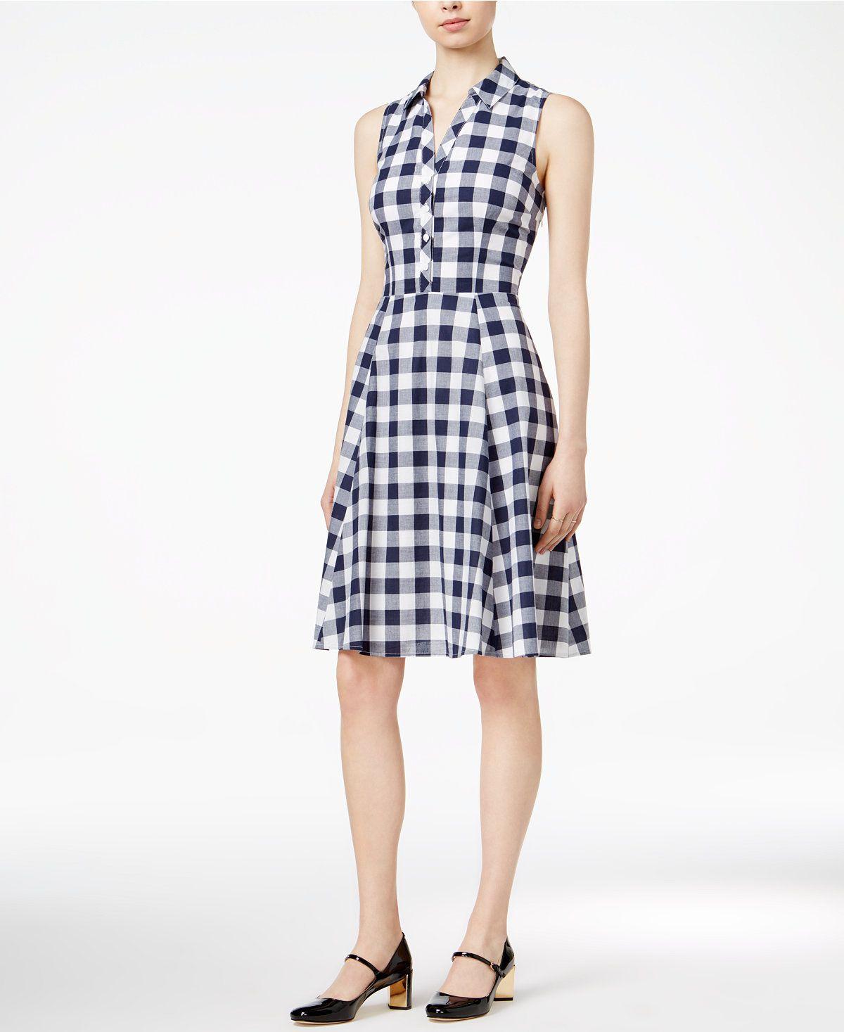 Maison Jules Cotton Gingham Shirtdress, Only at Macy's - Maison Jules - Women - Macy's