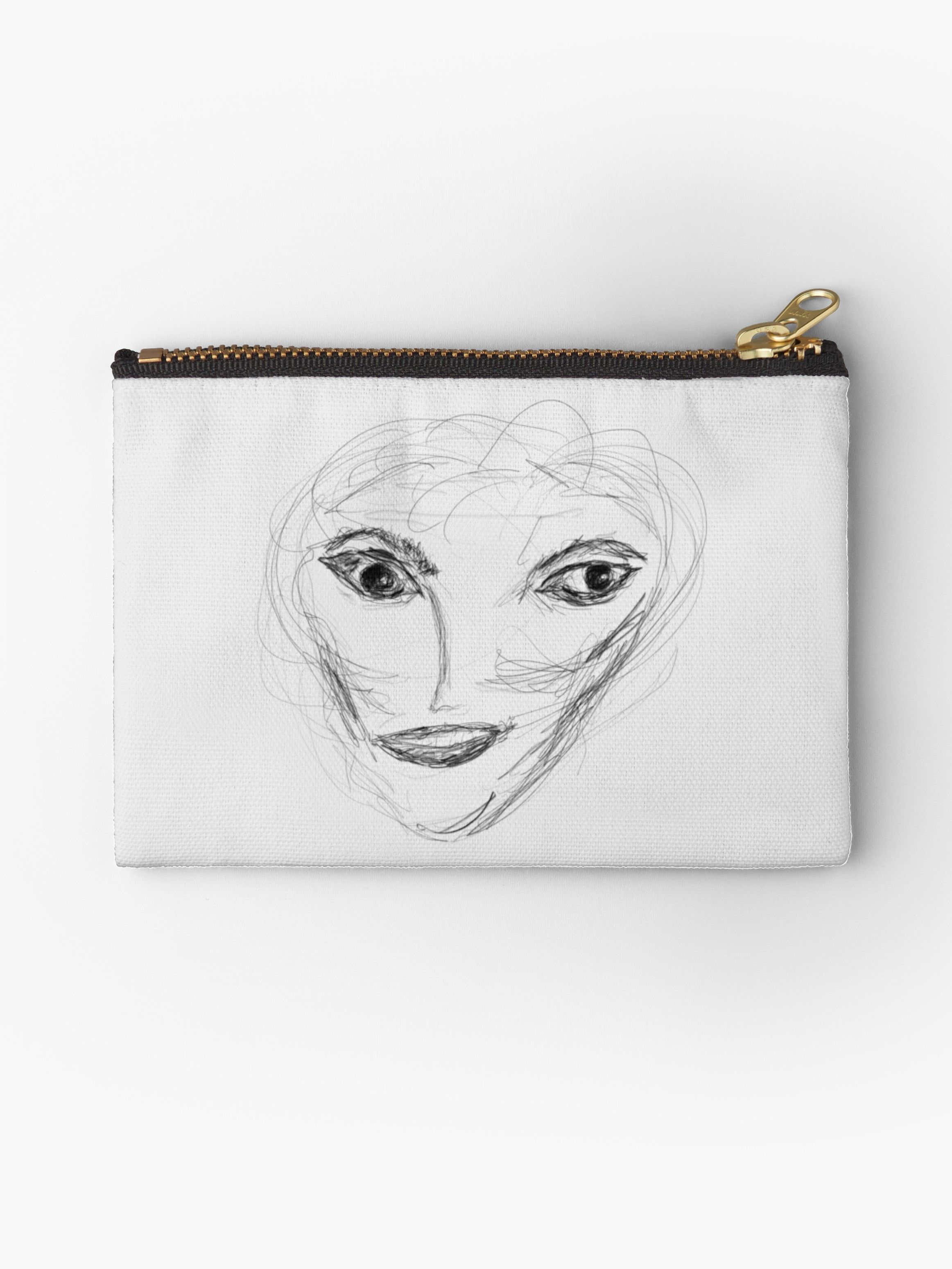 Petite apple pencil drawing studio pouch by billowenart