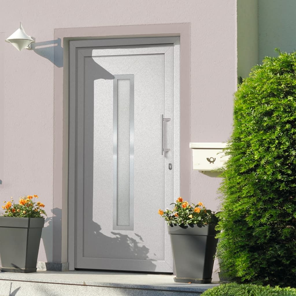 vidaXL Entrance door white 108 x 208 cm