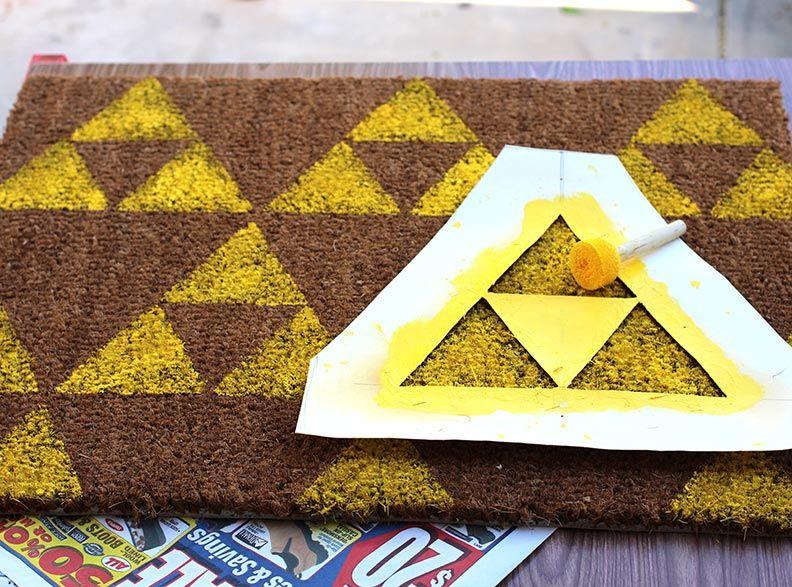 Geek Decor Diy Legend Of Zelda Welcome Mat I Know What I