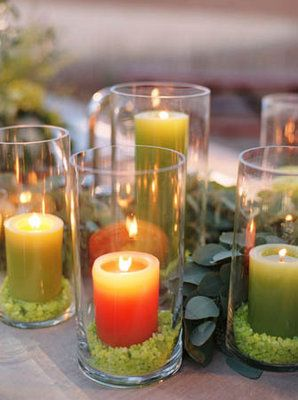 Romantic hurricane candles. Union Photography