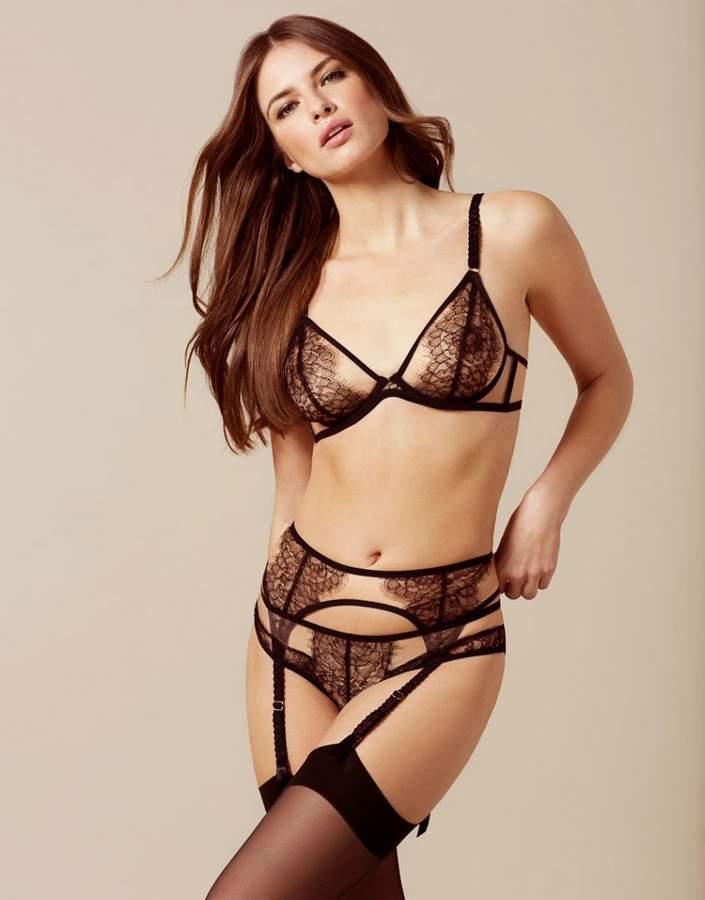 5bcdc6c60ac24 Fantazia Suspender Nude And Black. Fantazia Suspender Nude And Black Women  Lingerie, Sexy Lingerie, Lingerie Sets, Floral Lace