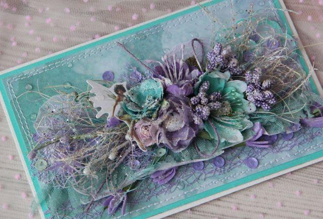 "Царевна - Лягушка: ""Эльфийская сказка"" - Открыточка цветочная."