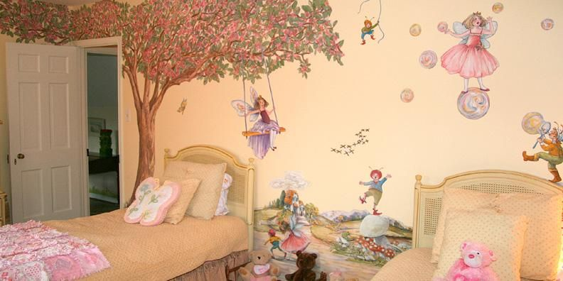 Fairy wall decals fairy wall stickers fairy murals by for Girls murals