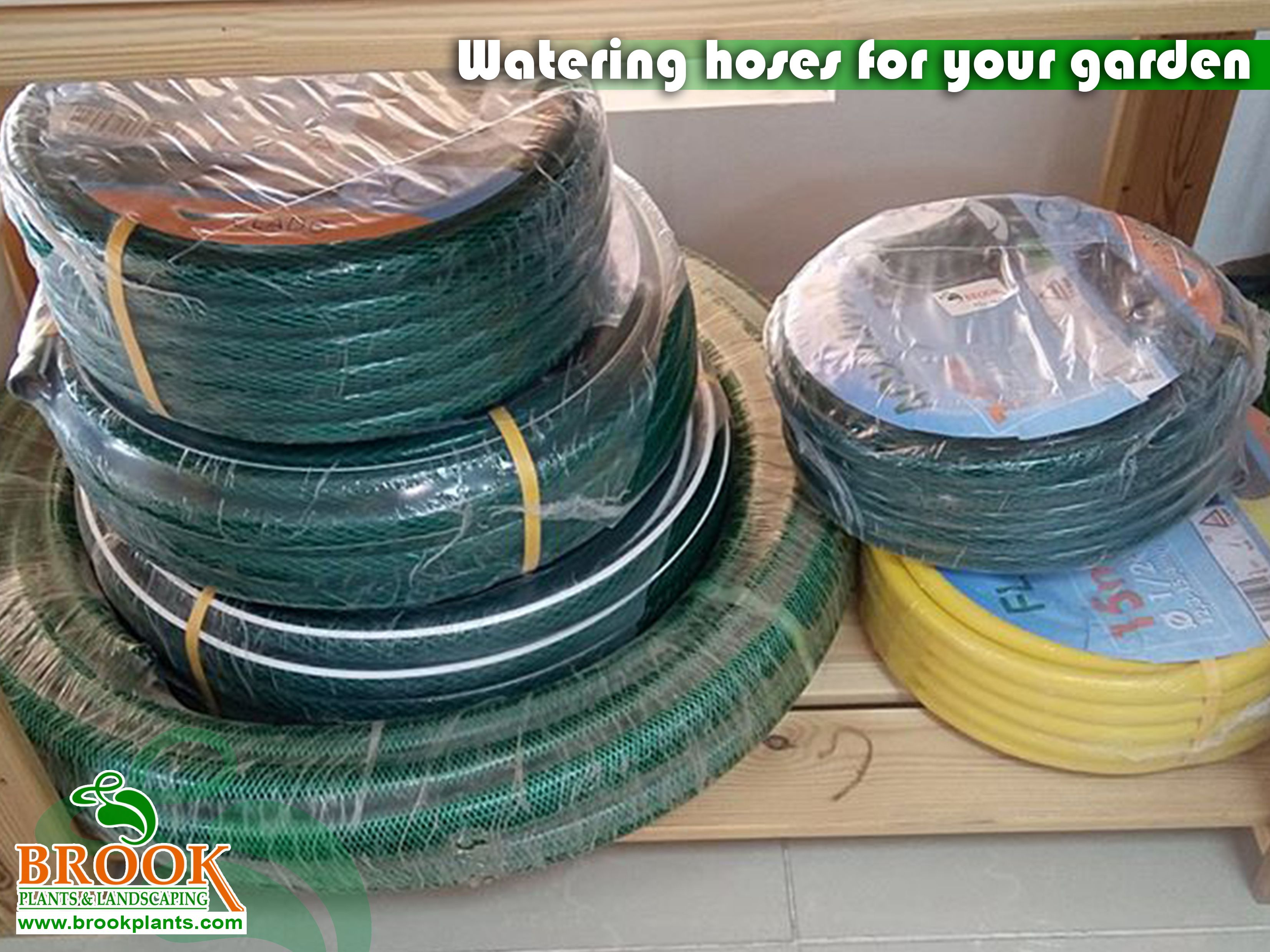 Watering hoses for your garden.  Call us at +971 4 882 9900.