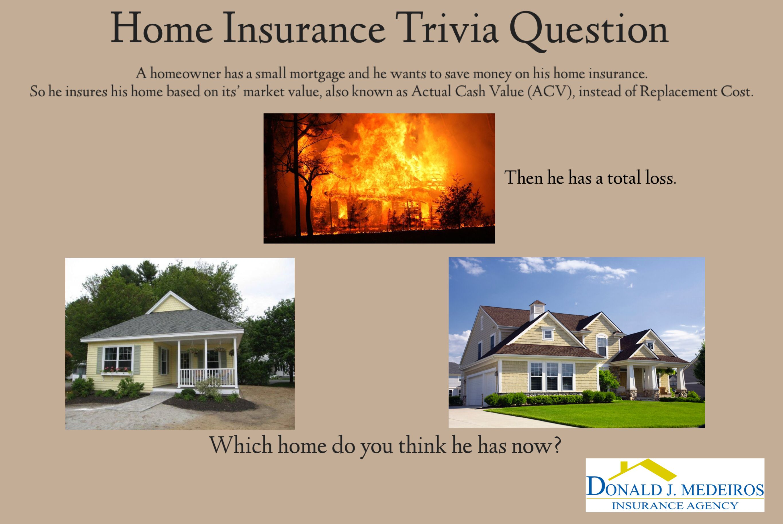 Home Insurance Acv Vs Replacement Cost Home Insurance