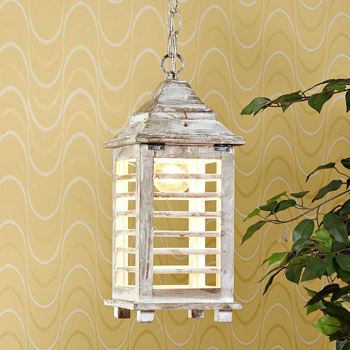Our Exclusive Collins Lantern Brings Classic Good Looks: Wooden Shutter Lantern- Love This, But As A Lamp, Not A