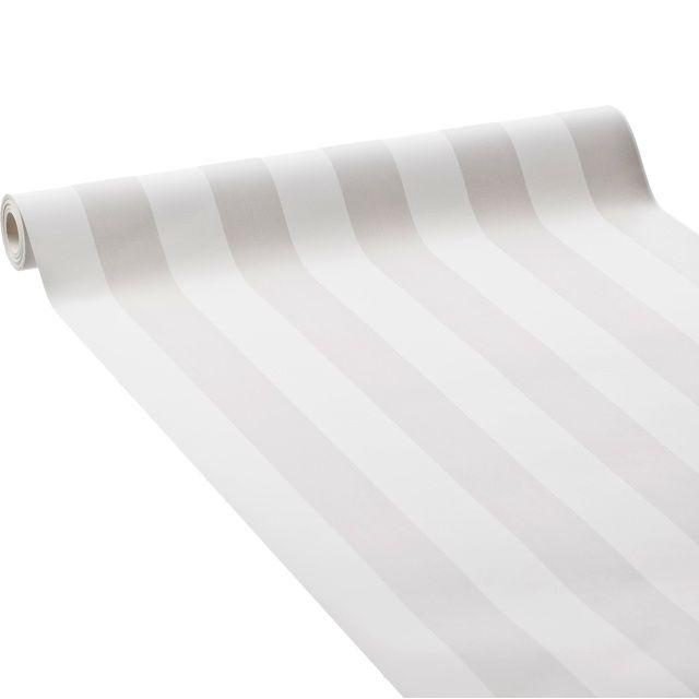 Papier Peint Rayure Gris Blanc Castorama Deco Papier