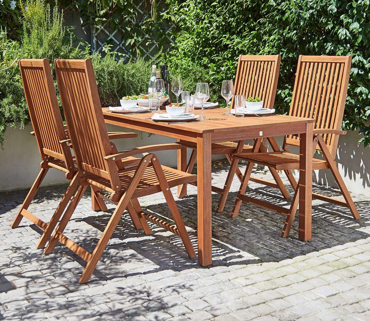 Table Hamar L150 4 Rec Chairs Kamstrup Jysk Bord Sommerhus