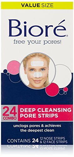 Biore Deep Cleansing Pore Strips Combo Pack 24 Count Strips