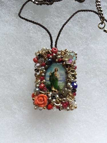 1efdce3e6c08 escapularios bordados Collares De Perlas
