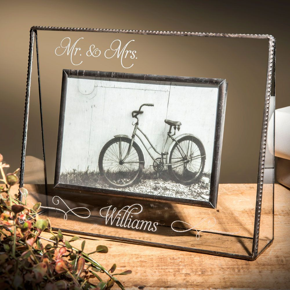 Wedding Picture Frame Personalized Wedding Gift Engraved Glass Photo ...