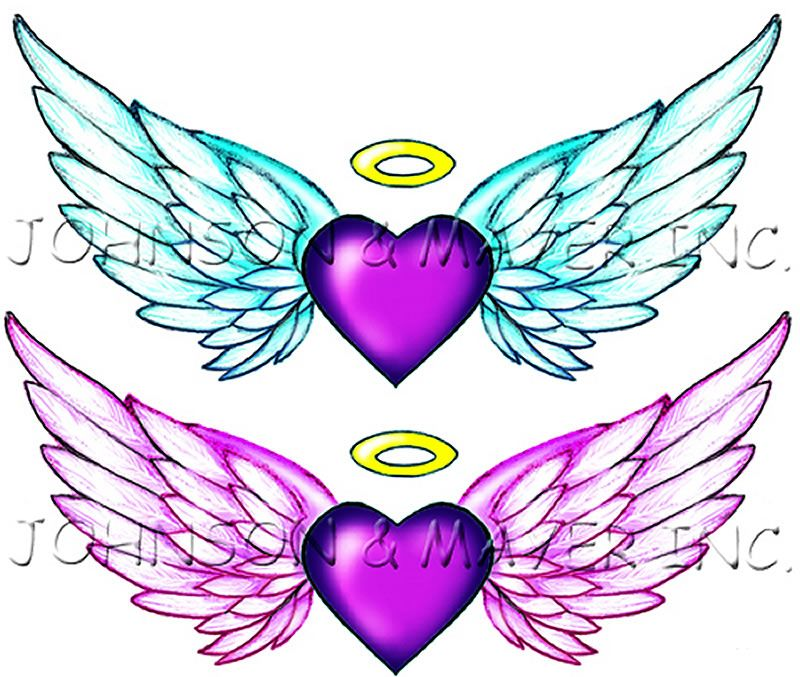 heart shaped angel wings tattoo | statement with our Angel ... Angel Wings Heart Halo