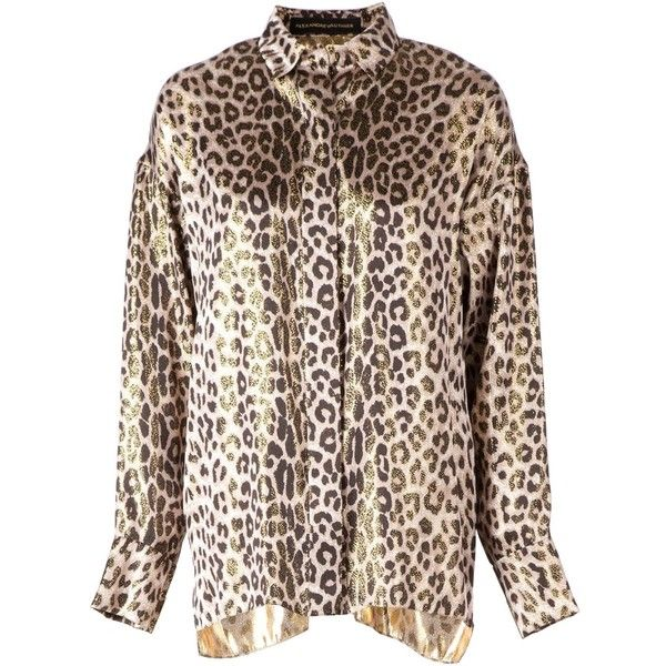 Alexandre Vauthier Leopard Print Shirt ($661) ❤ liked on Polyvore featuring tops, black, leopard print shirt, black long sleeve shirt, leopard print long sleeve shirt, long sleeve shirts y longsleeve shirt