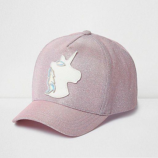 818dd0c2cba Girls pink glitter unicorn cap - hats - accessories - girls