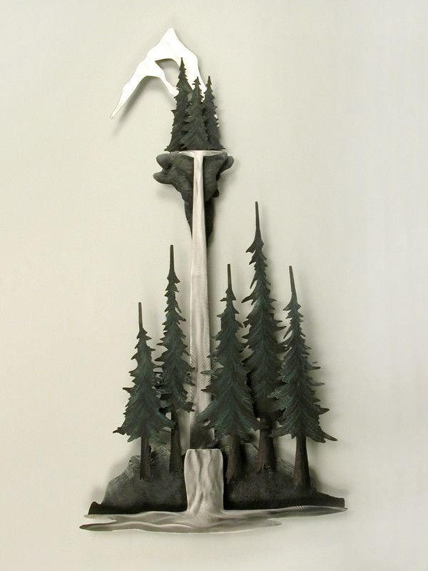 Stand of Adirondack Pine Trees Metal Wall Art | Metal walls ...