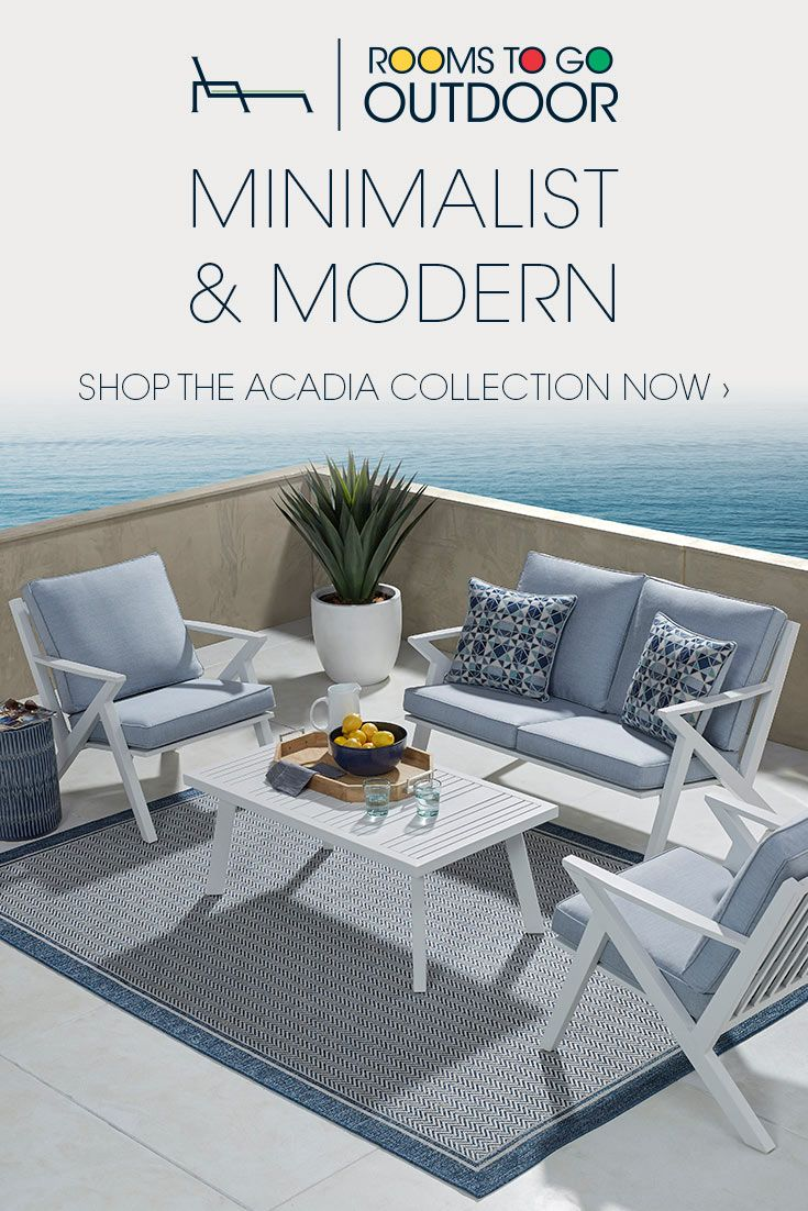 This Patio Furniture Has All The Style You Want Shop Rooms To Go Outdoor Today Diseno De Interiores Muebles Casas
